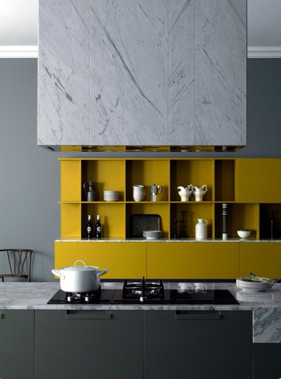 Charles Ray and Coco marble kitchen