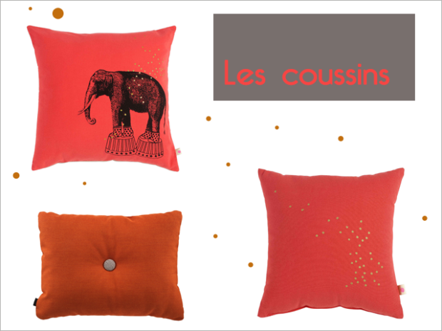 Charles Ray and Coco - les coussins
