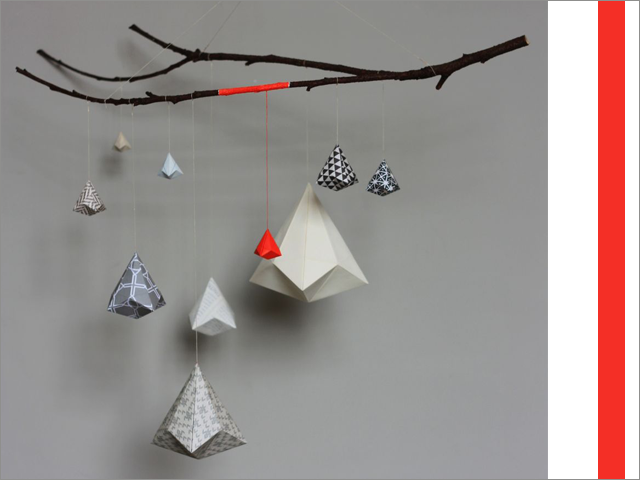 Charles Ray and Coco - Sophie Morille - mobile - origami