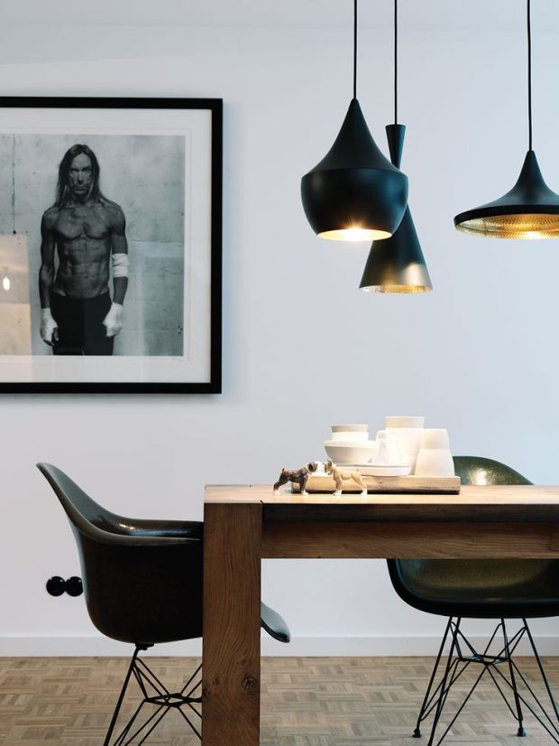 Charles Ray and Coco - tom dixon - lampes - cuivre