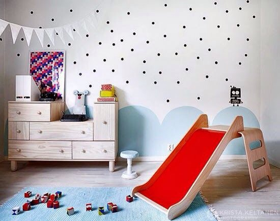 Charles Ray and Coco - Polka bedroom kids