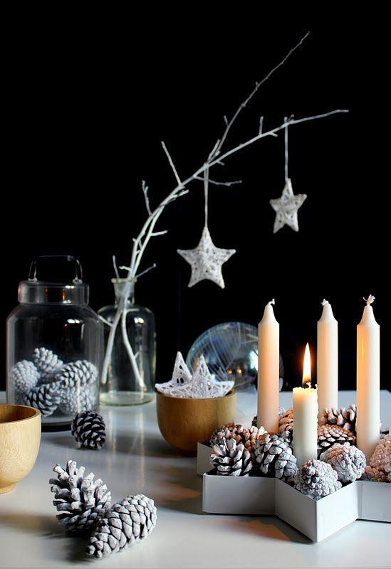 centre de table bougies noel