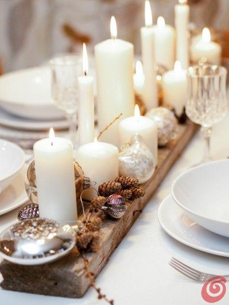chemin de table de noel bougies