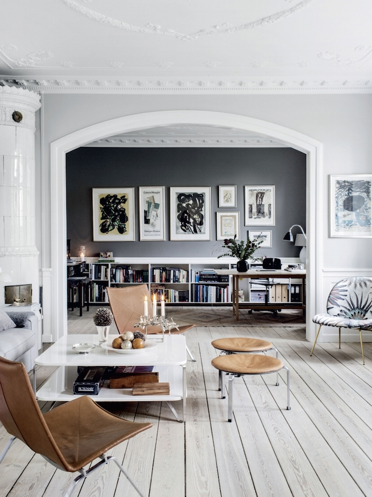 Charles Ray and Coco - Blog deco - inspiration - gallery-wall-wood-floor-photo-chris-tonnesen