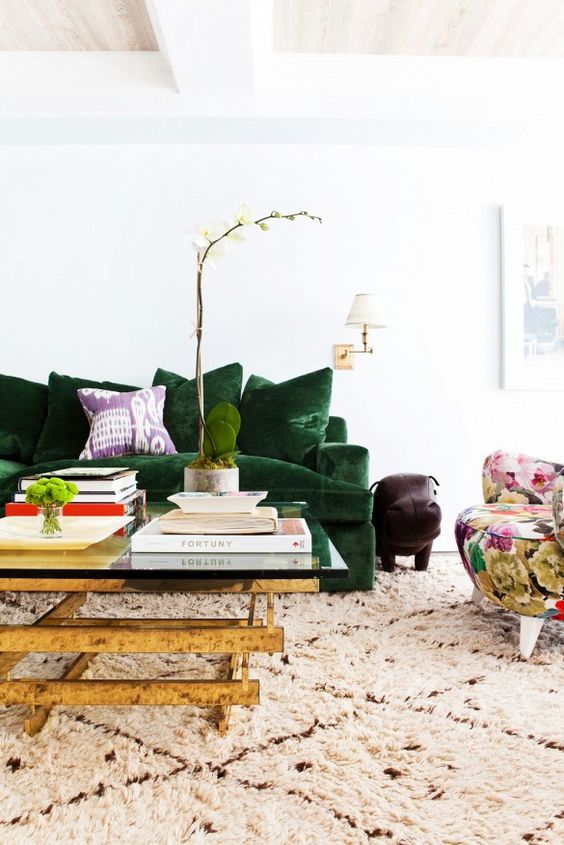 Charles Ray and Coco - Green touch - Sofa vert boho