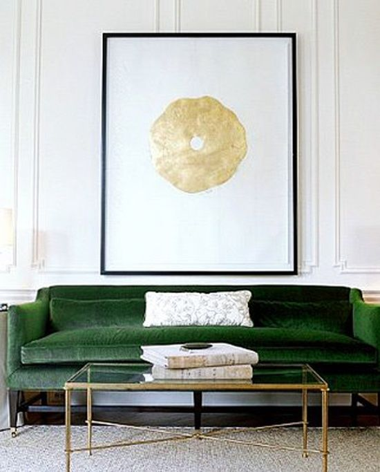 Charles Ray and Coco - Green touch - Sofa vert