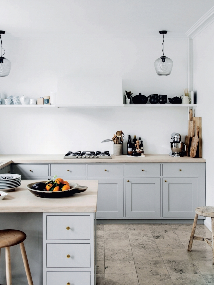 Charles Ray and Coco - muted-toned-kitchen-photo-chris-tonnesen