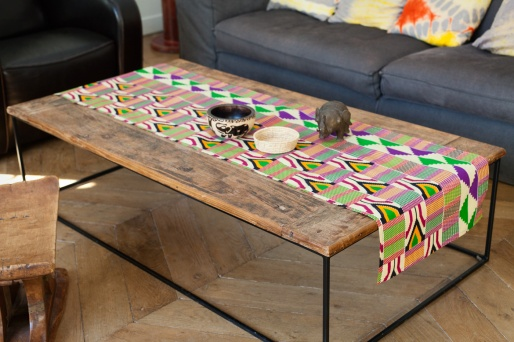 Charles Ray and Coco - blog deco et design - african wax - chemin de table