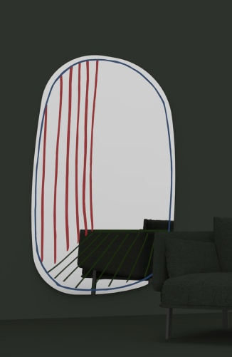 Charles Ray and Coco - Blog deco - Milan 2016 - Miroir New Perspective - Alain Gilles
