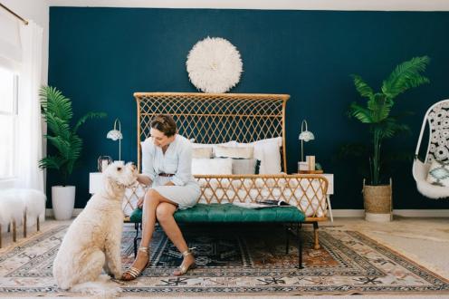Charles Ray and Coco - blog deco et design - chambre rotin
