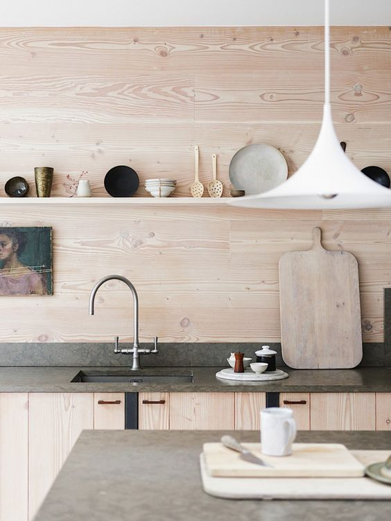 Charles Ray and Coco - blog deco et design - wood kitchen crédence