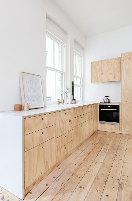 Charles Ray and Coco - blog deco et design - wood kitchen pin