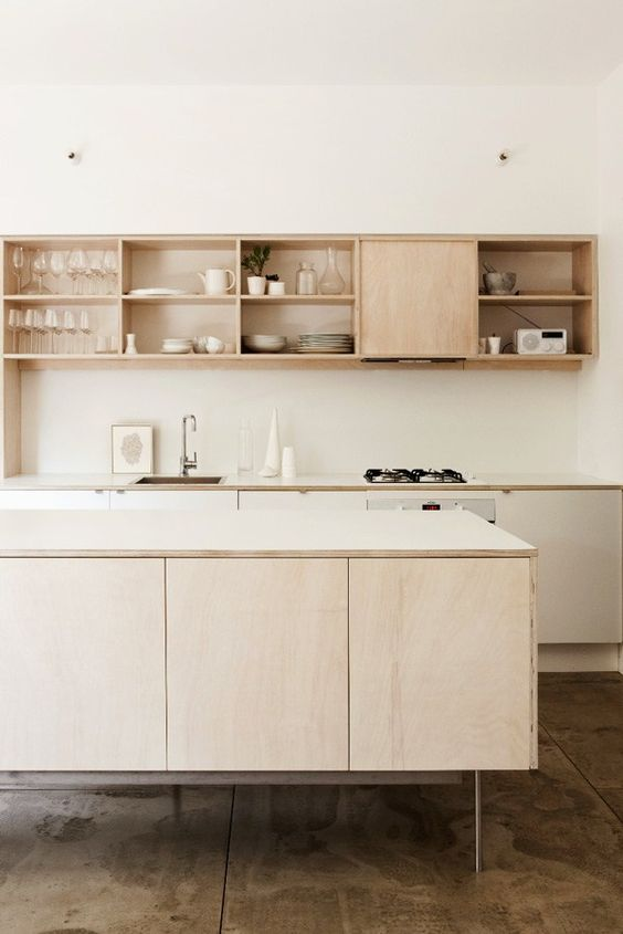 Charles Ray and Coco - blog deco et design - wood kitchen simple