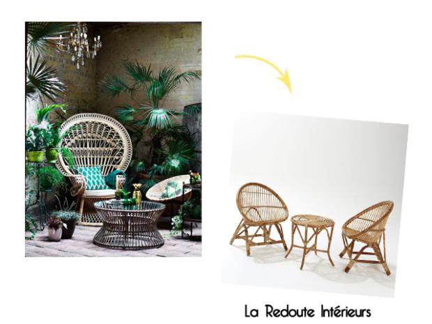 Charles Ray and Coco - blog décoration et design -bordeaux - selection shopping terrasse - osier - la redoute interieurs