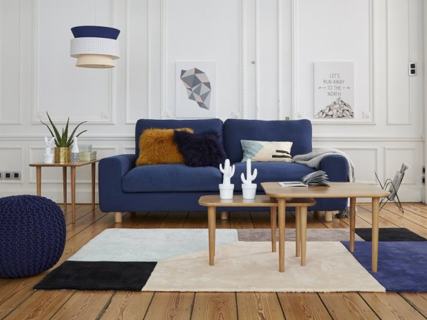charles ray and coco - blog decoration et design - canape_bleu_la_redoute