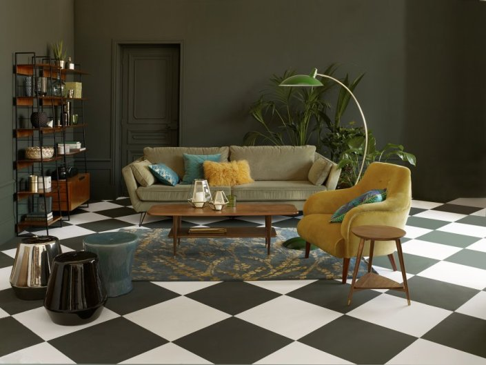 charles ray and coco - blog decoration et design - grand_canape_velours_la_redoute