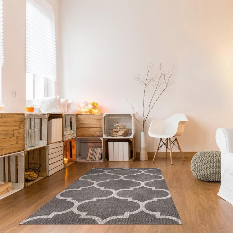 charles-ray-and-coco-blog-deco-et-design-actualite-de-la-decoration-et-du-design - bon plan - shopping - bazarchic - le vinyl c'est chic - tapis vintage blanc gris