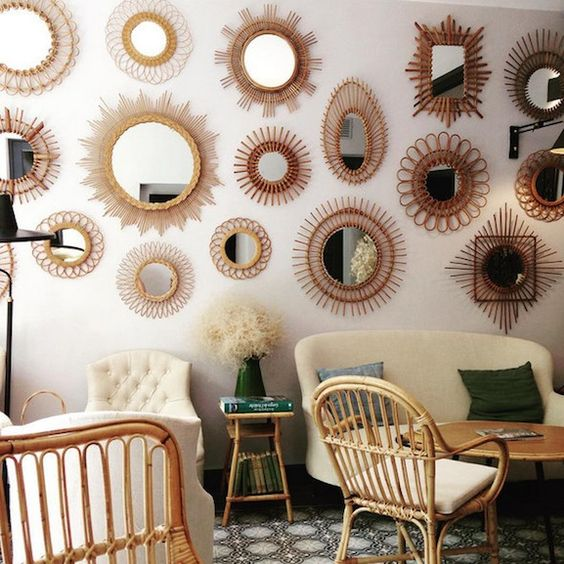 charles ray and coco - blog deco et design - actualite de la decoration et du design - tendance - rotin - miroir
