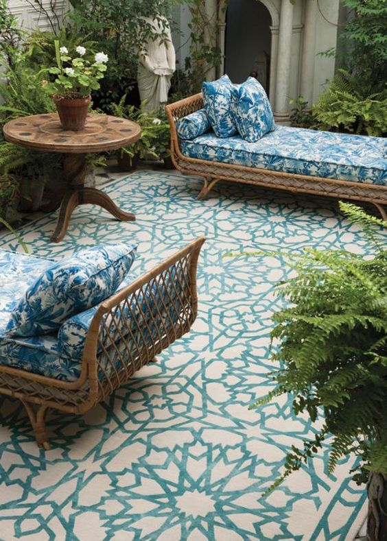 charles ray and coco - blog deco et design - actualite de la decoration et du design - tendance - rotin - salon de jardin