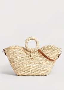 charles ray and coco - blog deco et design - shopping - mango - panier - raphia