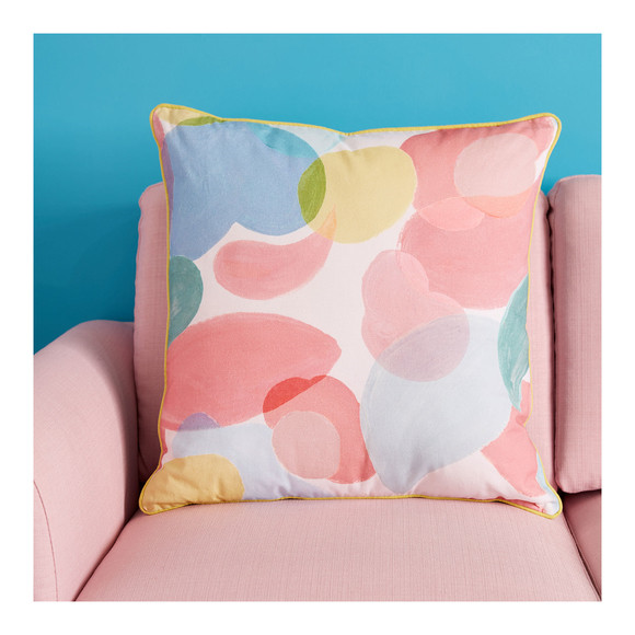 wear lemonade x monoprix - coussin rose maison - 25