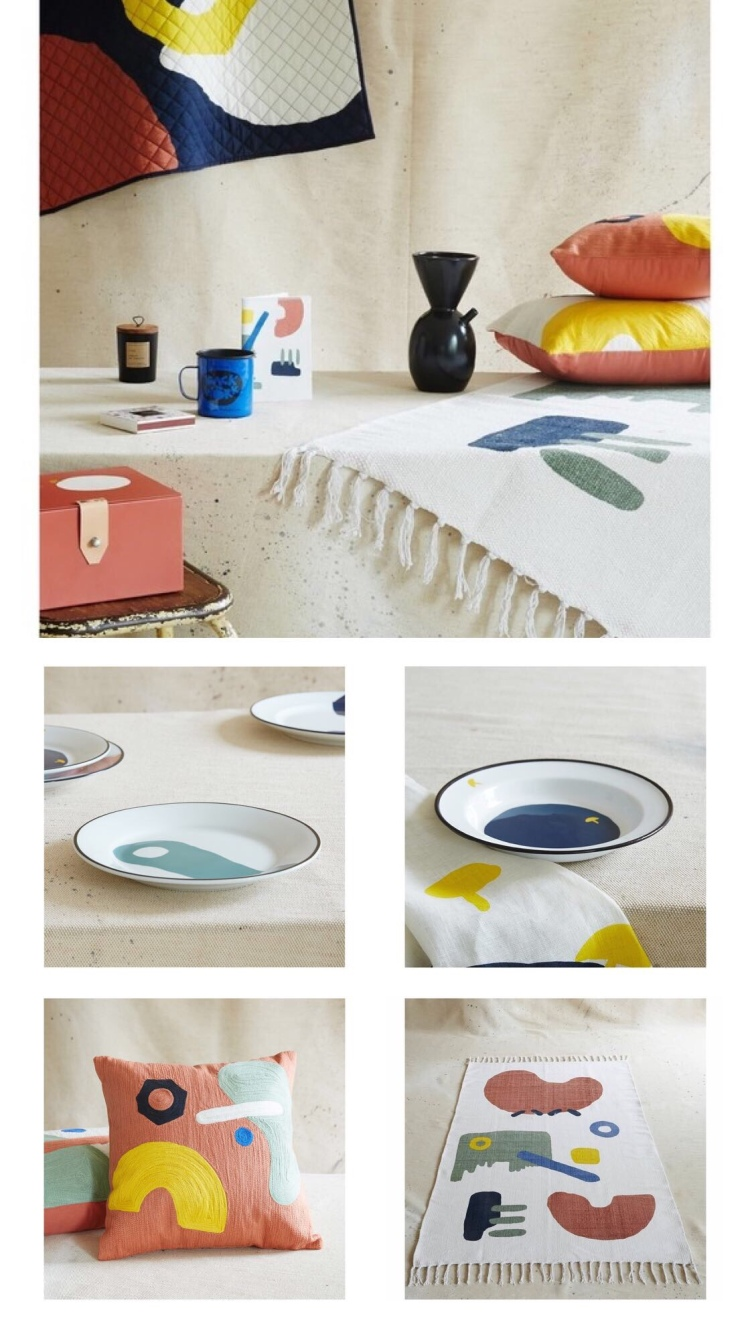 Collaboration Milk magazine pour Monoprix - art de la table et textile
